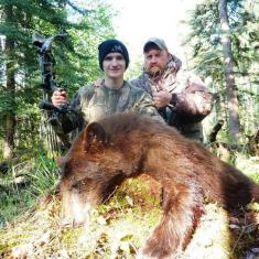 Brian Schell with his Dad and Bear 2014