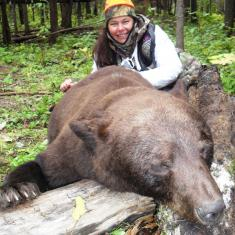 Barb Taylor with a great Bear