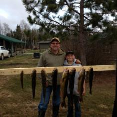 Father and Son after a successful fishing trip