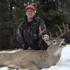 Rick Williams with a wide buck